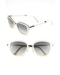 Tod's 53mm Woven Leather Temple Sunglasses White One Size