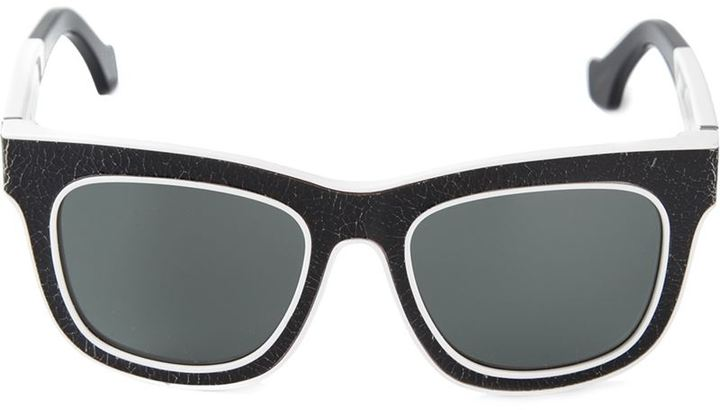8bae9bdfda ... Balenciaga Cracked Effect Sunglasses