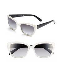 Kate spade johanna 53mm retro sunglasses pearl white one size medium 533679
