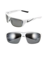 Nike Mercurial 80 65mm Polarized Sunglasses White Blakc One Size