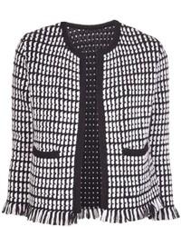 Lucien pellat finet fringed tweed jacket medium 141483