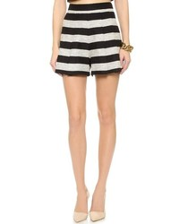 Black and White Tweed Shorts