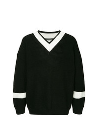 Monkey Time Contrast V Neck Jumper