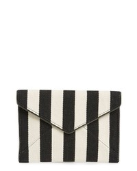 Black and White Vertical Striped Clutch