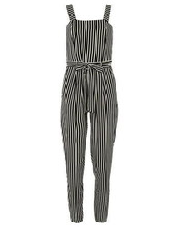 Black and White Vertical Striped Jumpsuit