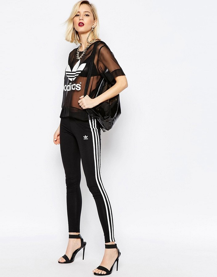 super popular dirt cheap to buy £27, adidas Originals Adicolor Leggings With 3 Stripe