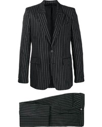 Black and White Vertical Striped Suit