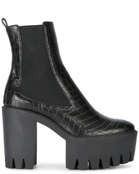 Stella McCartney Black Monster 120 Platform Ankle Boots