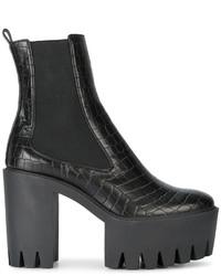 Stella McCartney Black Monster 120 Platform Ankle Boots
