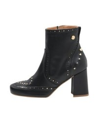 Moschino High Heeled Ankle Boots Black