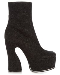 Maison Margiela Lurex Platform Ankle Boots