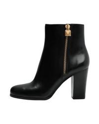 Michael Kors Margaret Bootie High Heeled Ankle Boots Black