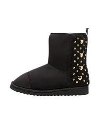 Moschino Spikes Boots Nero Oro