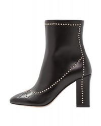 Moschino Stud High Heeled Ankle Boots Black