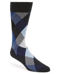 Argyle socks blue medium 344148
