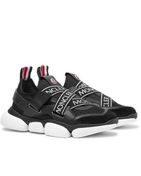 Moncler Bakary Logo Trimmed Mesh Suede And Leather Sneakers