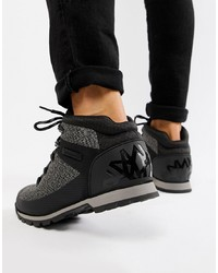 Timberland Euro Knitted Hiker Boots In Black