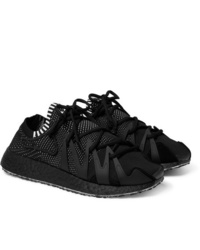 Y-3 Raito Racer Rubber And Suede Trimmed Primeknit Sneakers