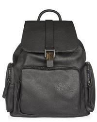 Topshop Bandit Backpack Black
