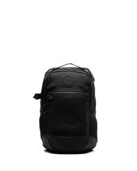 Moncler Black Logo Patch Backpack
