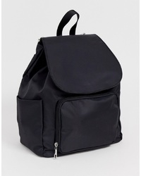 ASOS DESIGN Fabric Backpack With Front Pocket