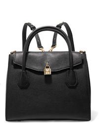MICHAEL Michael Kors Michl Michl Kors Mercer Convertible Textured Leather Backpack Black