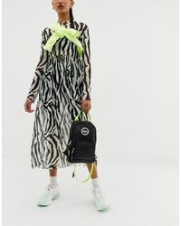 Hype One Shoulder Neon Backpack In Black