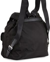 Prada Vela Large Two Pocket Backpack Black | Where to buy \u0026amp; how to ...