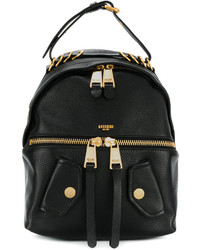 Moschino Ring Detail Biker Backpack