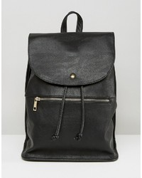 Asos Soft Backpack With Zip Detail