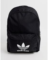 adidas Originals Trefoil Logo Backpack In Black