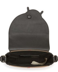 Burberry Coca Cotton Leather Crossbody Bag