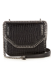 Stella McCartney Falabella Crocodile Effect Faux Leather Box Bag