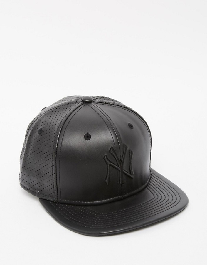 ... New Era 9fifty Ny Yankees Faux Leather Snapback Cap ... babad73dcf3