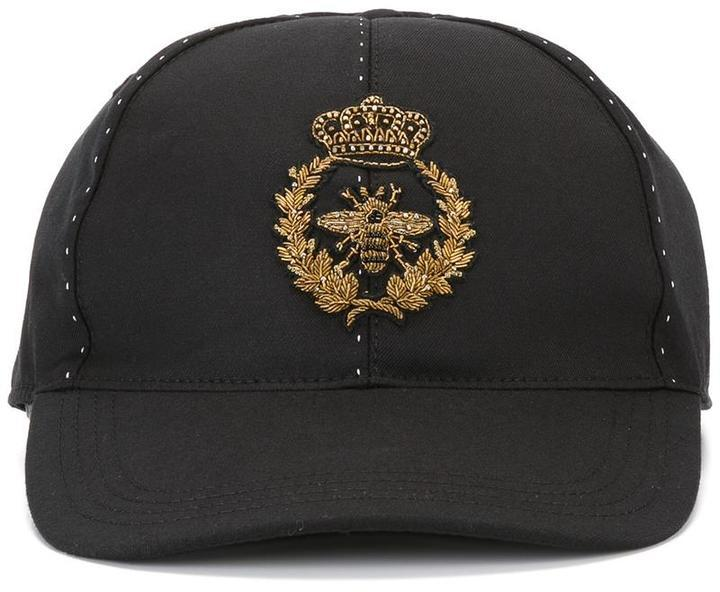 ... Dolce   Gabbana Embroidered Crown Bee Baseball Cap 5f22da73bf7
