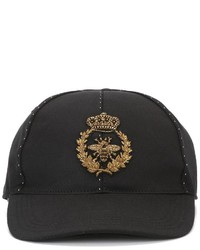 Dolce & Gabbana Embroidered Crown Bee Baseball Cap