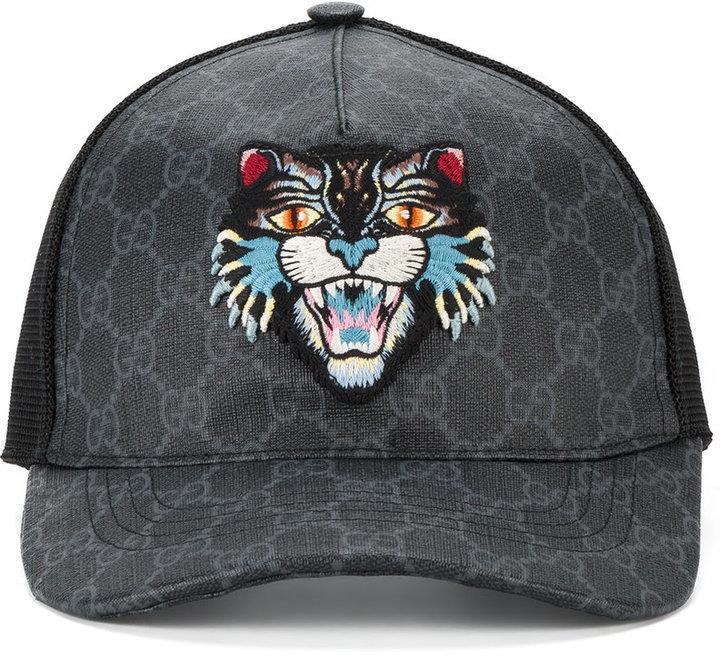 8ac2dfa039f0dc Gucci Gg Supreme Angry Cat Baseball Cap, £349 | farfetch.com ...