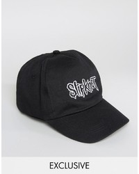a8de80e384e ... Reclaimed Vintage Inspired Baseball Cap With Slipknot Embroidery
