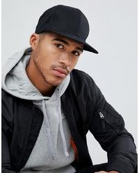 ASOS DESIGN Snapback Cap In Black