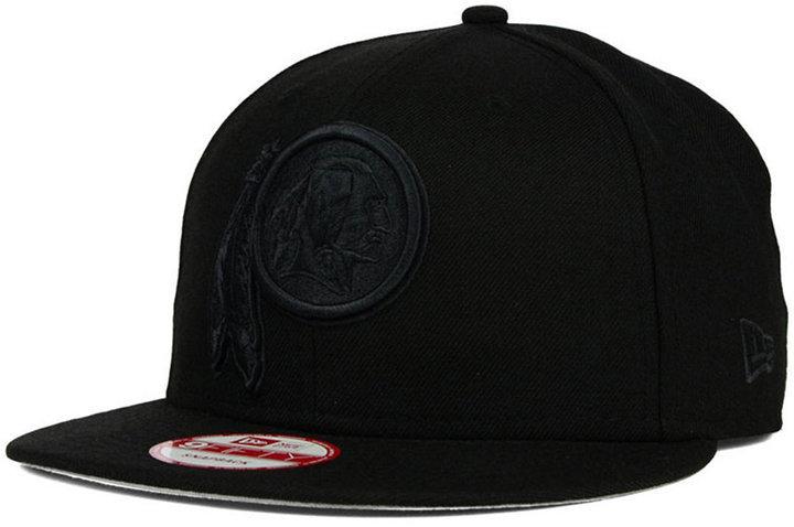 0a7f1fc57 ... purchase new era washington redskins black on black 9fifty snapback cap  1290c 14b20