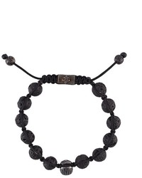 Nialaya Jewelry Beaded Skull Bracelet