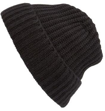52f73cf03afb1 ... Black Beanies Andrew Stewart Rib Knit Wool Cashmere Beanie ...