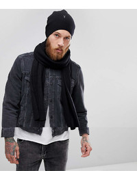 e851db2fba98b AllSaints Fen Beanie And Scarf Giftset In Lambswool Blend