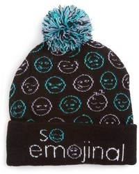 Capelli of New York Girls So Emojinal Beanie Black