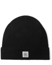 Reigning Champ Logo Appliqud Ribbed Wool Beanie