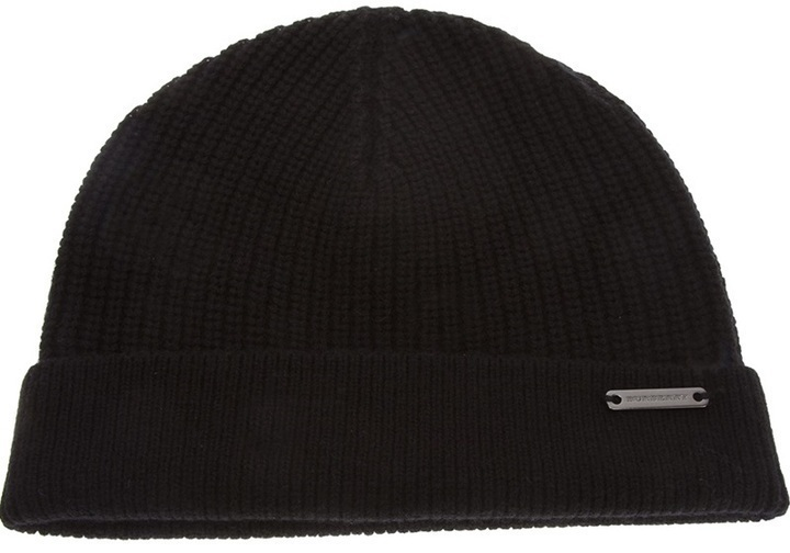 069e5a40d8e ... Black Beanies Burberry London Ribbed Trim Beanie