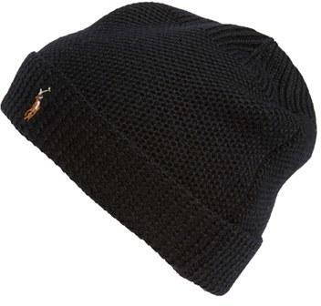 a9623d27f5e ... Polo Ralph Lauren Merino Wool Beanie Black ...