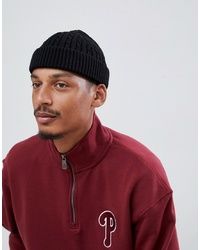 8e61b2abe751 ASOS DESIGN Fisherman Beanie In Black Recycled Polyester £5 · ASOS DESIGN  Mini Fisherman Beanie In Black Cable Knit