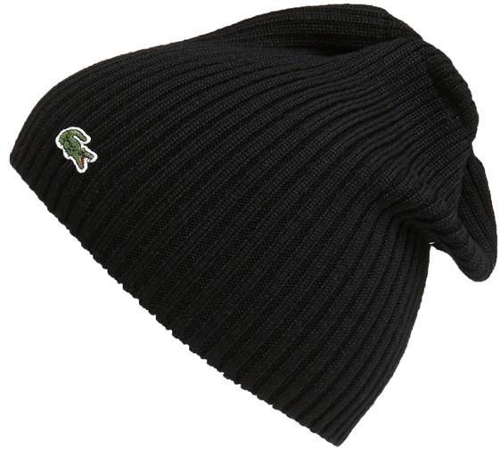 ... Lacoste Rib Knit Wool Beanie ... 65e87c13527