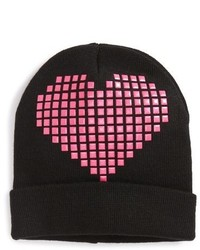 The Accessory Collective Studded Heart Knit Hat